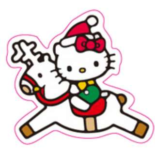 Hello Kitty Christmas Reindeer Sticker Gloss Waterproof
