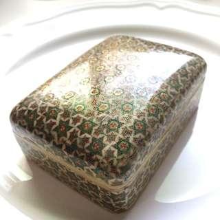 印度金色鑲嵌方盒