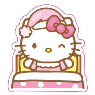 Hello Kitty Bedtime Goodnight Sticker Gloss Waterproof