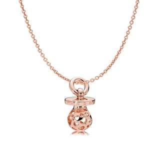 Pandora Rose Pacifier Necklace Gift Set