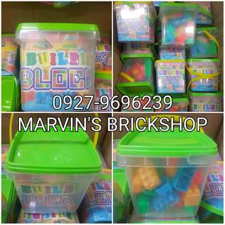 Party Giveaways Building Blocks with FREE Tub For Sale