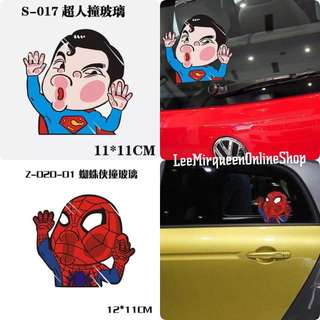 SUPERMAN AND SPIDERMAN CAR ACCESSORIES