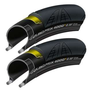 Continental Grand Prix 4000 S II Folding Tyre Black - Pack of 10