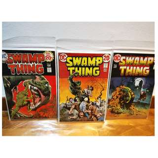 Swamp Thing 1972 lot - #4,5 and 12 Gd-Fine Bernie Wrightson