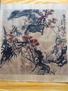 水墨画 68x67cm Chinese painting