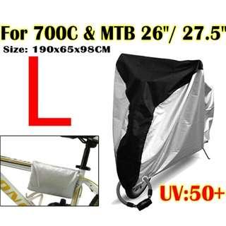 "Waterproof Rain / Dust / UV Protector Cover for 700C Road Bike & 26"" / 27.5"" MTB"