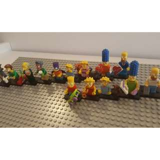 Lego Simpsons, Homer, Bart, Lisa, 14 Collectable Figures, Collector items!? Original