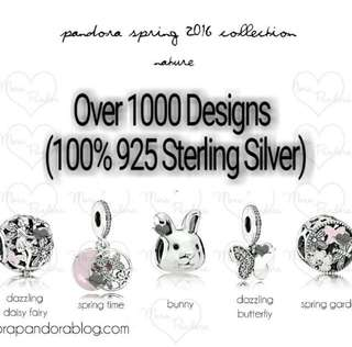 Over 1000 Designs (925 Sterling Silver Charms) To Choose From, Compatible With Pandora, T16
