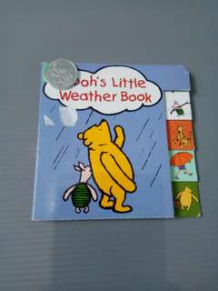 Winnie the pooh weather Buku impor tebal anak balita bayi import children board book