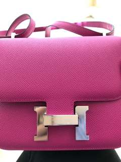Hermes constance c18 rose pourpre epsom leather itu tok cin