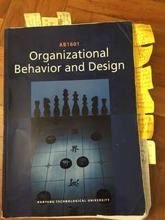 AB1601 Organizational Behavior and Design Textbook