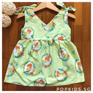 🧚🏻‍♂️Cute Tinker Bell Shoulder Ribbon Dress 🧚🏻‍♂️