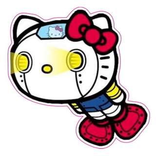 Hello Kitty Robot Sticker Gloss Waterproof