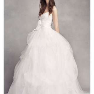 *買平過租* White by Vera Wang 婚紗 Hand-Draped Tulle Wedding Dress VW351339