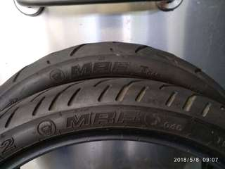 Motorcycle Tires, 130/70-17; 100/80-17