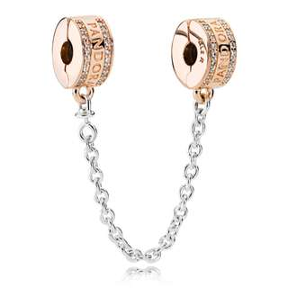 Pandora Rose Logo Insignia Safety Chain