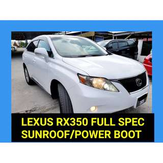 2012 Lexus RX 350 3.5 (A) JAPAN PREMIUM FULL SPEC