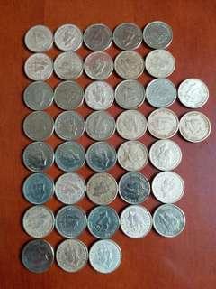 包真:香港硬幣男皇頭::大1毫1948年22個:1950年18個>共40個