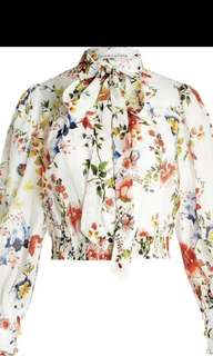 Authentic Alice and Olivia Issa Button Down Blouse Jacket