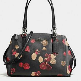 COACH  SMALL CHRISTIE  CARRYALL  HALFTONE IN WARM FLOWER ( F56469 )