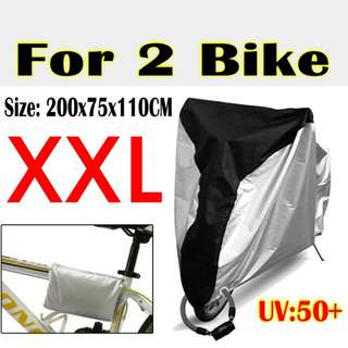 Waterproof Rain / Dust / UV Protector Cover XXL for 2 Bikes