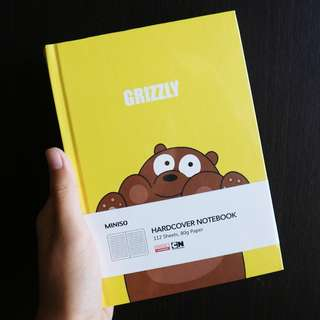 [JASTIP Miniso] We Bare Bears Hard Cover Notebook Limited Edition
