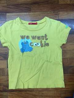 FREE Bossini Kids Cookie Monster Top