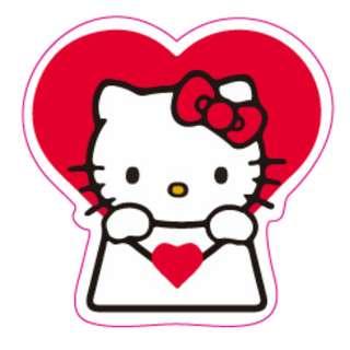 Hello Kitty Love Letter Sticker Gloss Waterproof