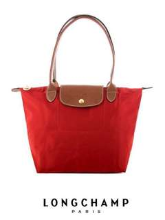 💕💕MOTHER'S DAY SALE!!! LONGCHAMP LE PLIAGE TOTE 2605089 SMALL/LONG HANDLE (ROUGE) READY STOCK