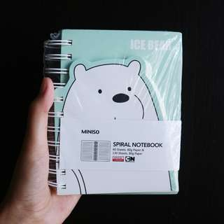 [JASTIP Miniso] We Bare Bears Spiral Notebook Limited Edition