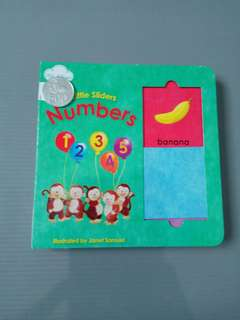 Little slider NUMBERS import children board book bbw activity atractive
