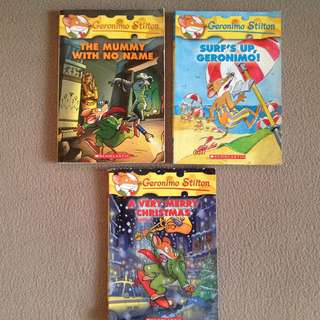 Geronimo Stilton books ( 3 books )