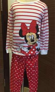 Minnie stripe long sleeve sz95 (2-3yo)
