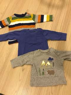 Mothercare Set of 3 Long Sleeves