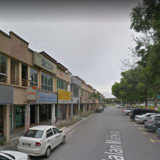 End Lot Shop Fronting Main Road Of Jalan Meru, Klang, Bigger Size Than Intermediate Unit