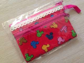 Mickey Mouse lace pouch with handle
