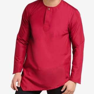 Amar Amran, Men Kurta, Maroon color, Size L