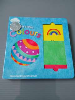 Little slider colours buku balita geser interaktif import children sliding panel board book bbw