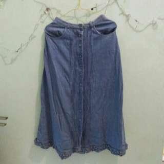 rok jeans panjang
