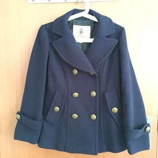 EUC Navy wool winter military short coat