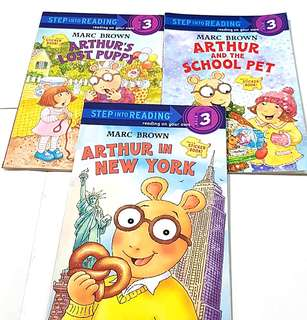 3 Sticker books: Step Into Reading 3 (Arthur)