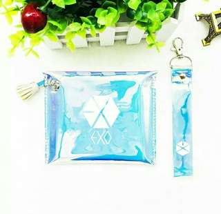 EXO hologram pouch + strap