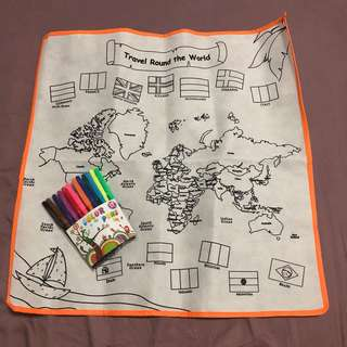 Colouring Travel Map