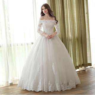 2018 Princess Bride Simple Bridal Gown Beautiful Wedding Dress