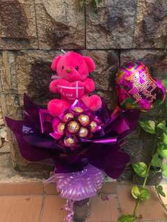 Mother's day bearbunga chocolate bouquet