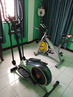 Gym Cross Trainer And Spinner Bike