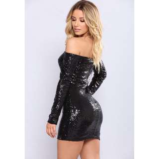 Watch Me Shine Sequin Dress - Black
