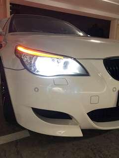 BMW E60 Original Hella White Headlamps