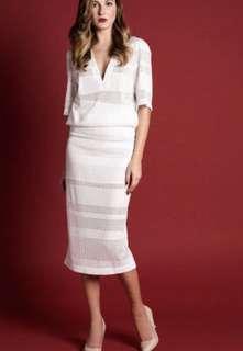 Alice McCall Je La Suis White Midi Skirt