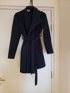 morning mist sz 8 navy coat
